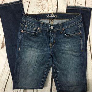 🌺Like New Fossil Skinny Jeans 26x31